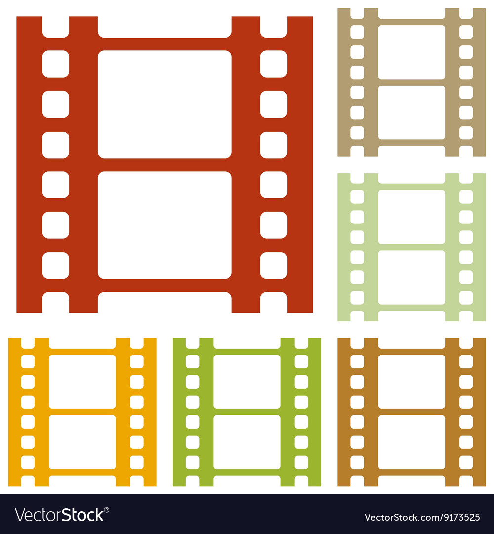 Reel of film sign vector