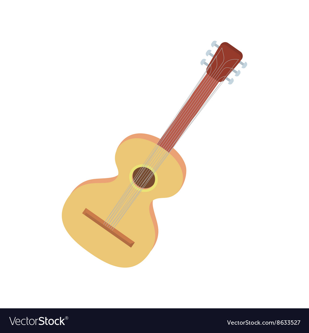 Charango icon in cartoon style vector
