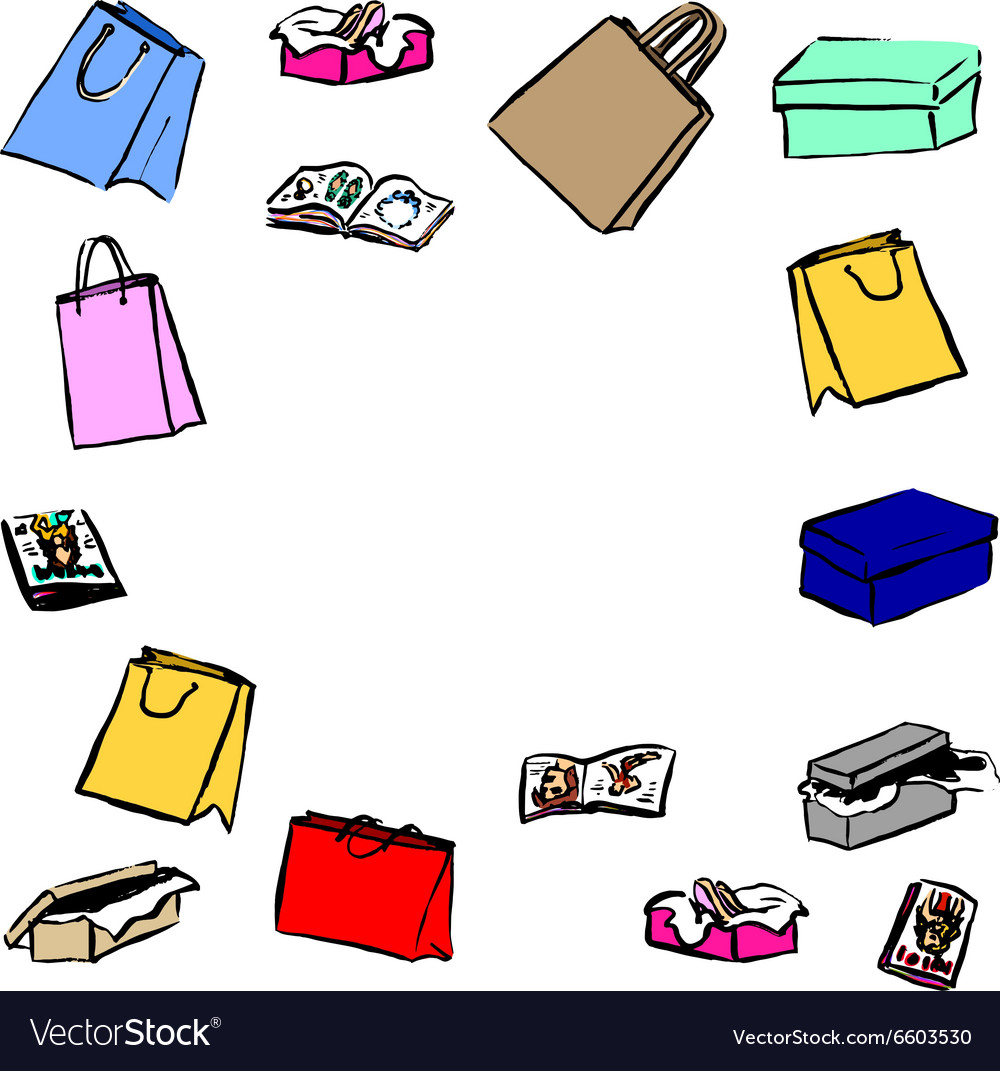 Gifts shopping bags vector