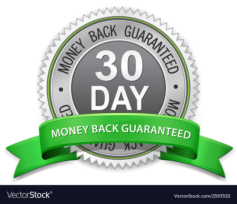 30 day money back guaranteed label vector