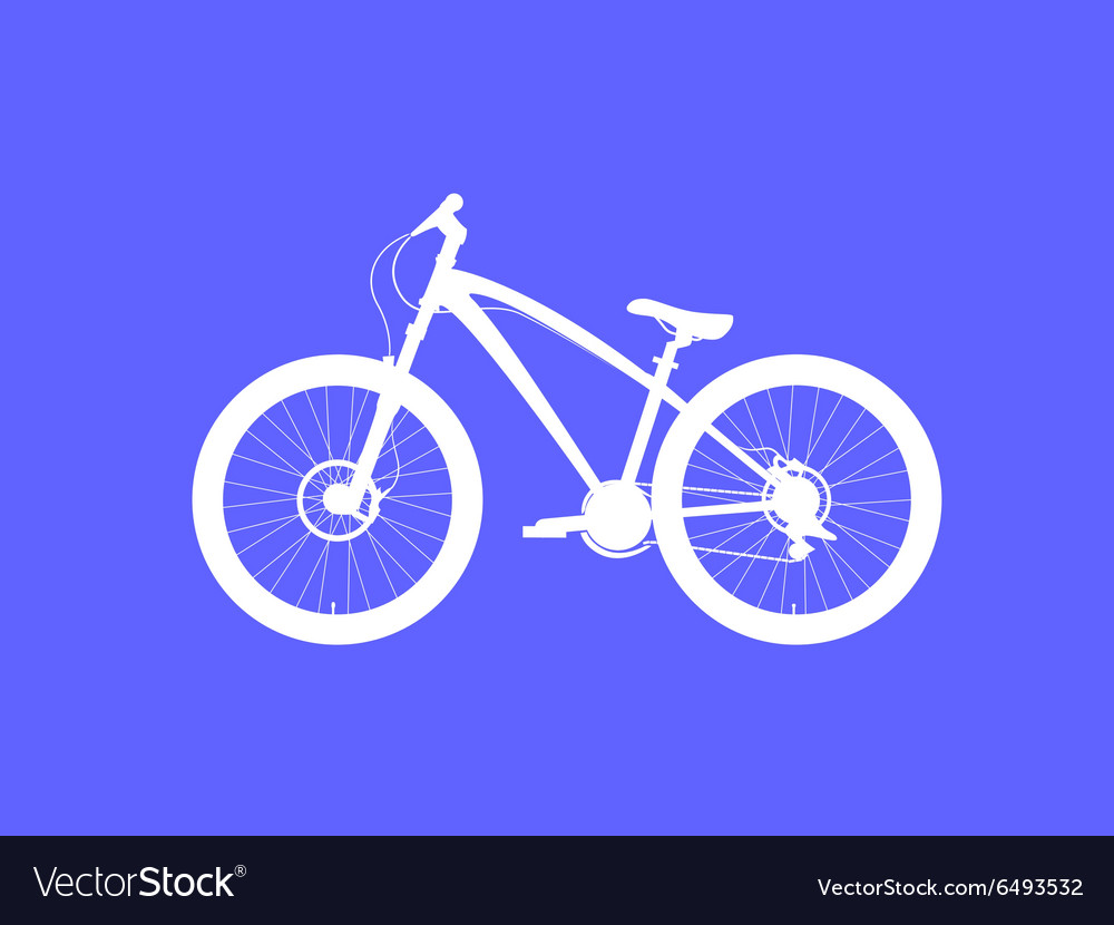 Dirt street bicycle vector