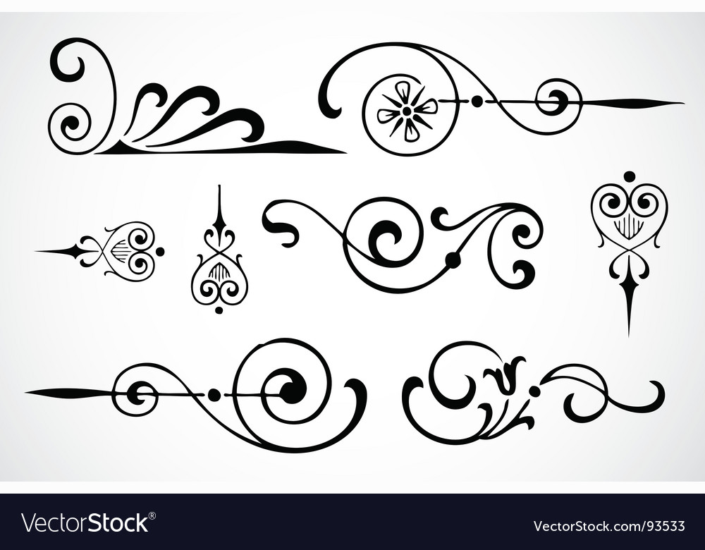 Swirl ornaments vector