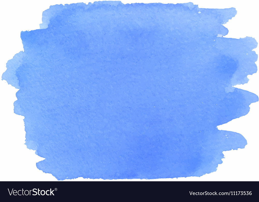 Abstract watercolor texture in blue color vector