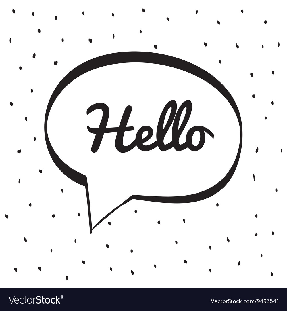 Hello icon bubble design graphic vector