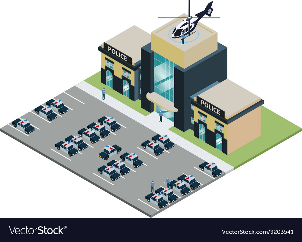 Pisometric police station vector