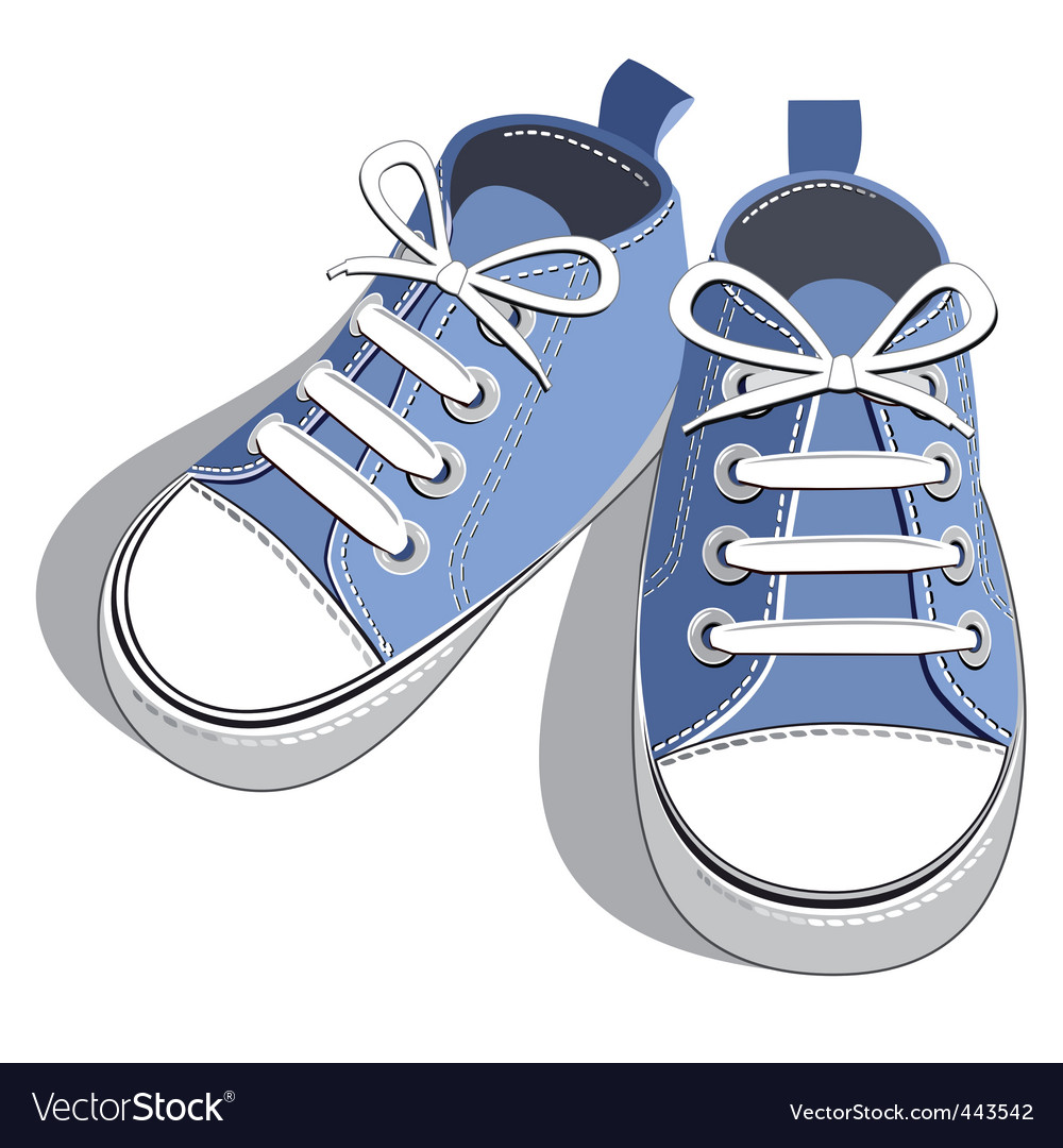 Kids shoes vector