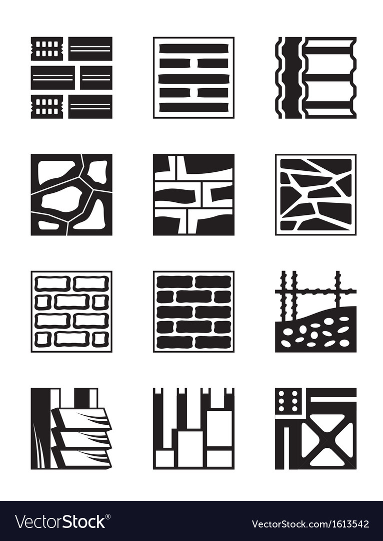 Various construction materials vector