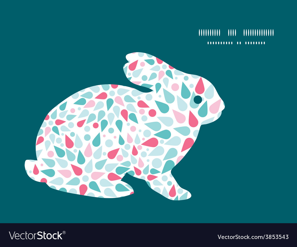 Abstract colorful drops bunny rabbit vector
