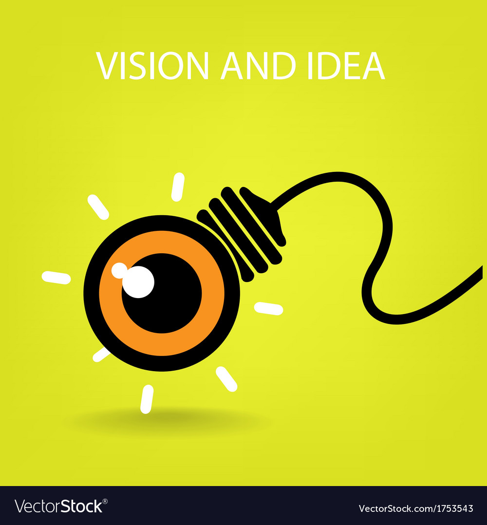 Vision and ideas sign vector