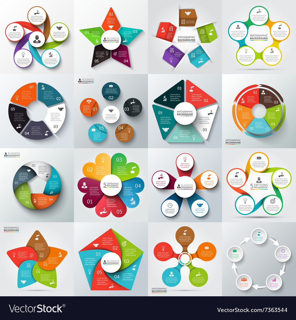 Big set of elements for infographic vector