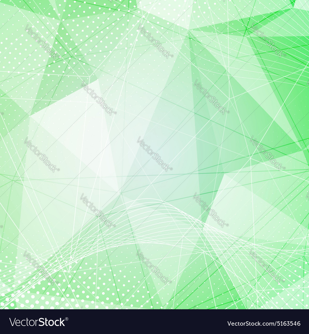 Green crystal pattern dot hitech background vector