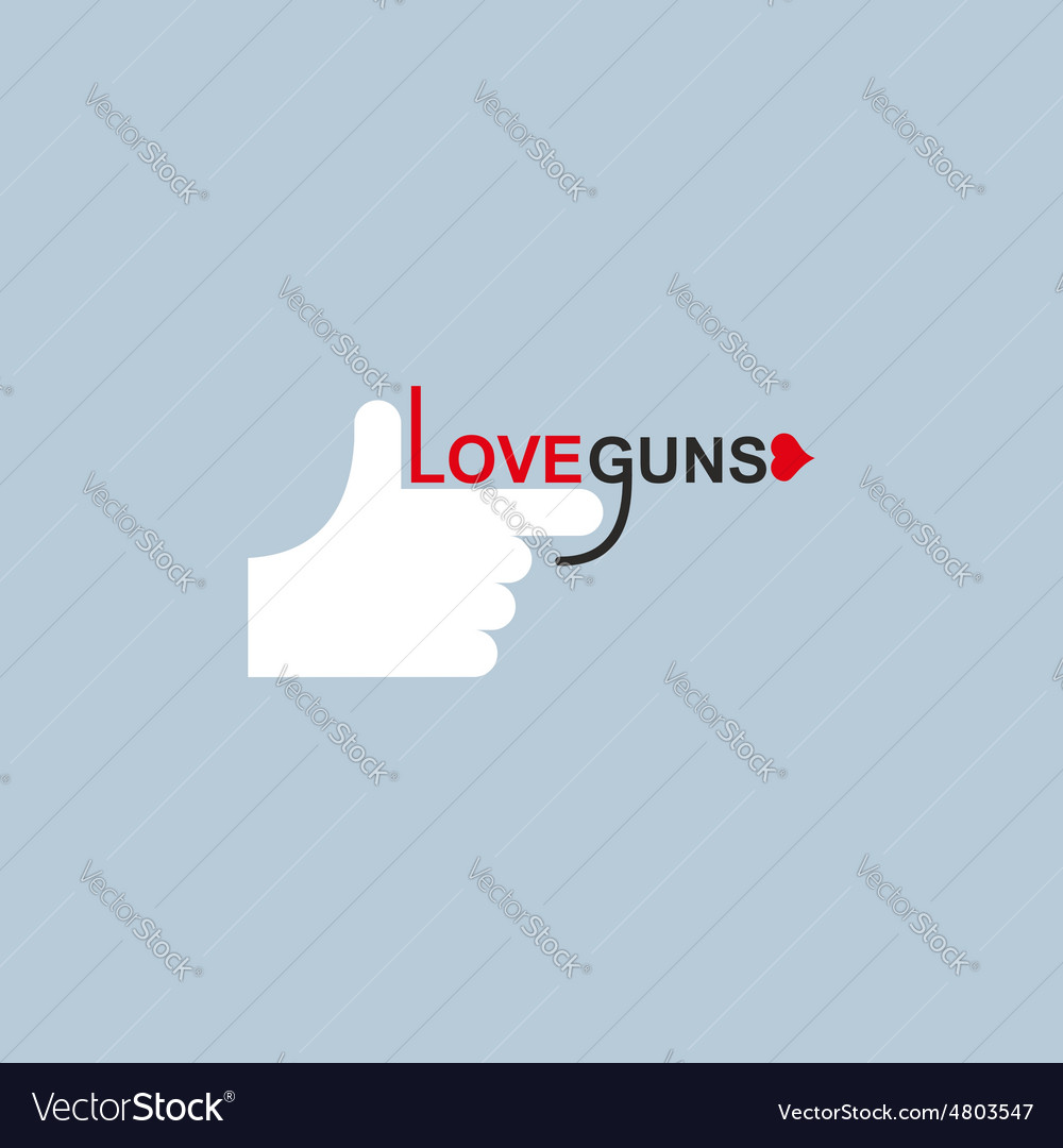 Love gun logo hand and arms vector