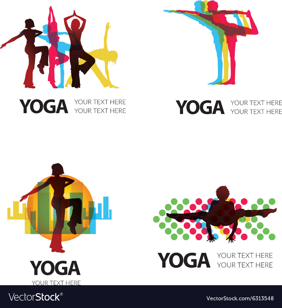 Logo yoga 2 vector