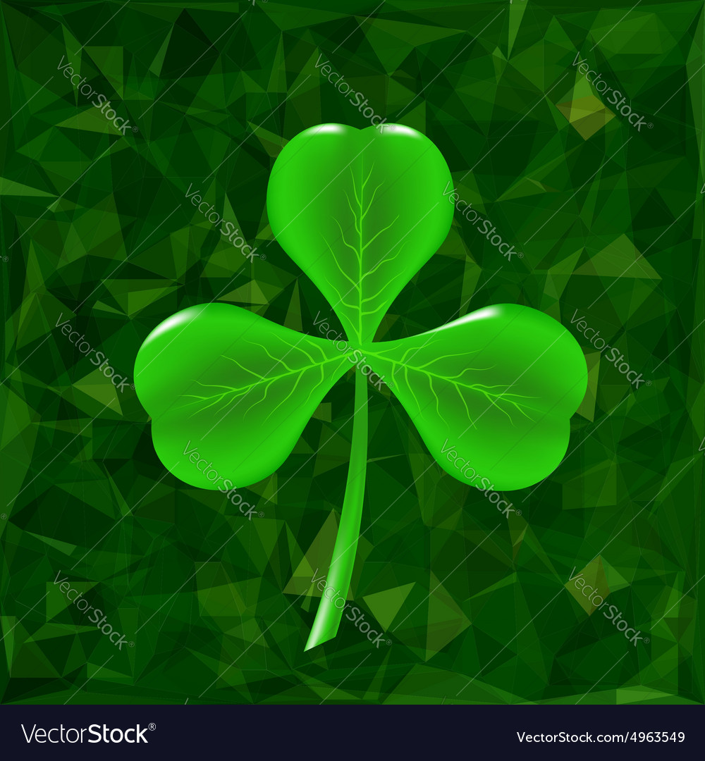 Green clover leaf icon vector