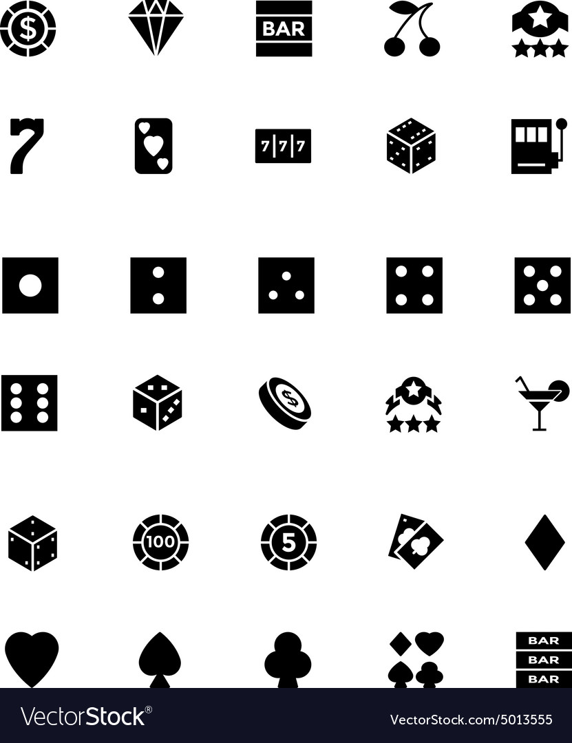 Casino and gambling icons 1 vector
