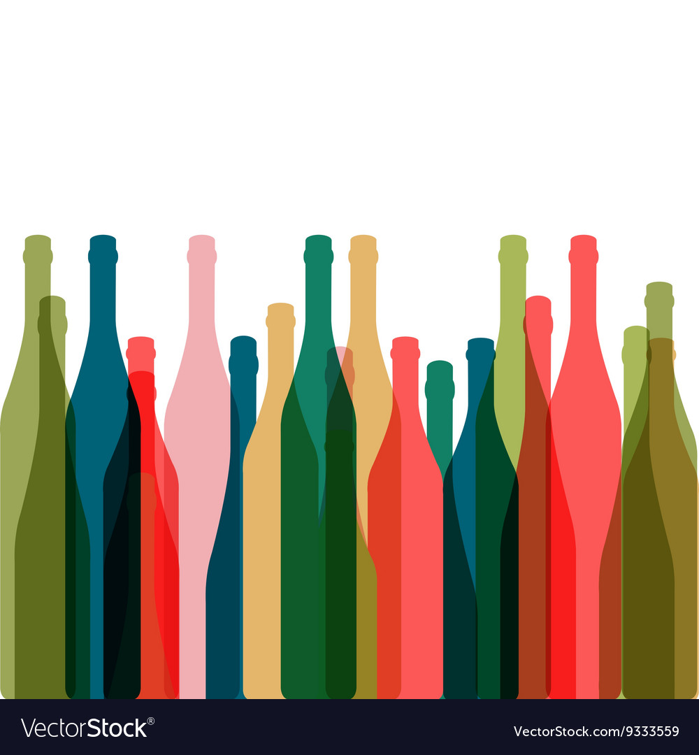 Silhouette glasses of alcohol vector