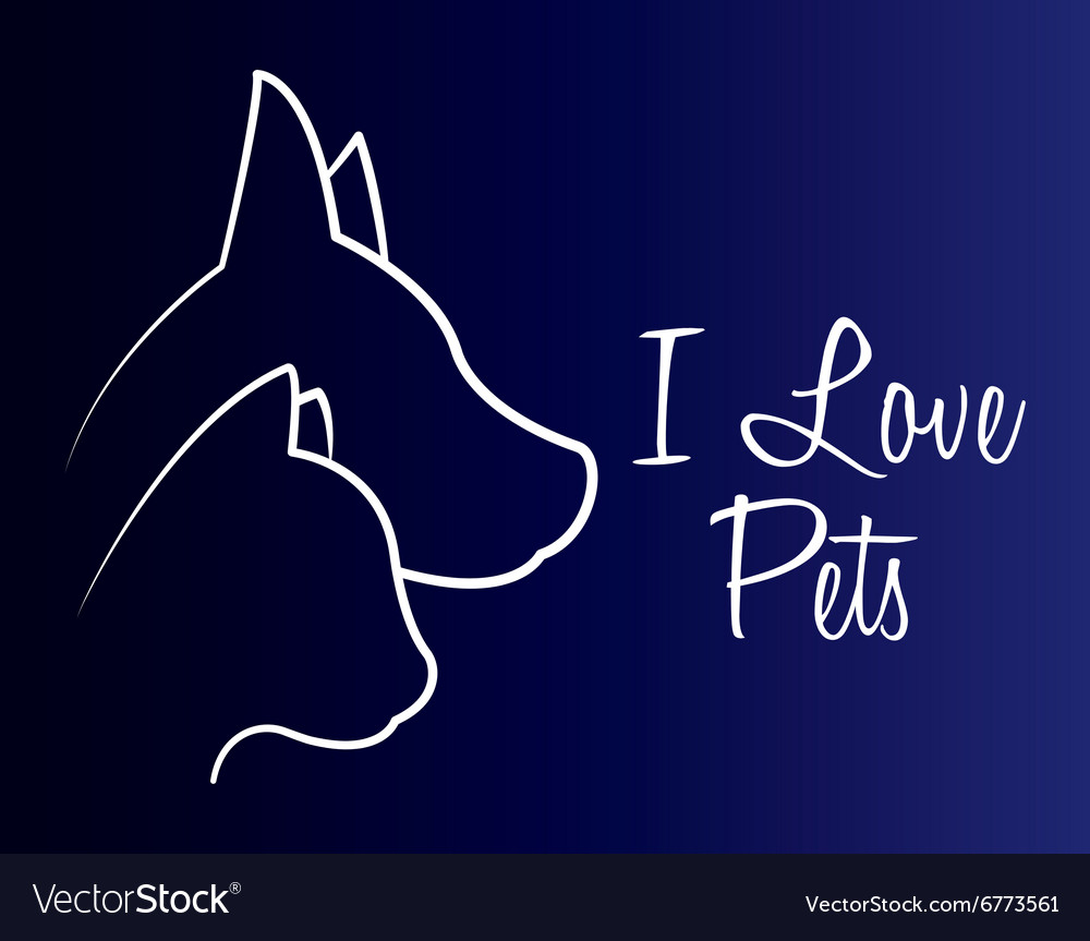 Animals pet shop graphic vector