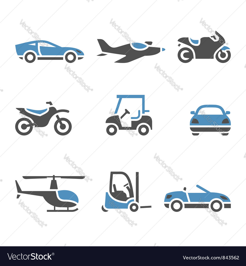 Transport icons  a set of four vector