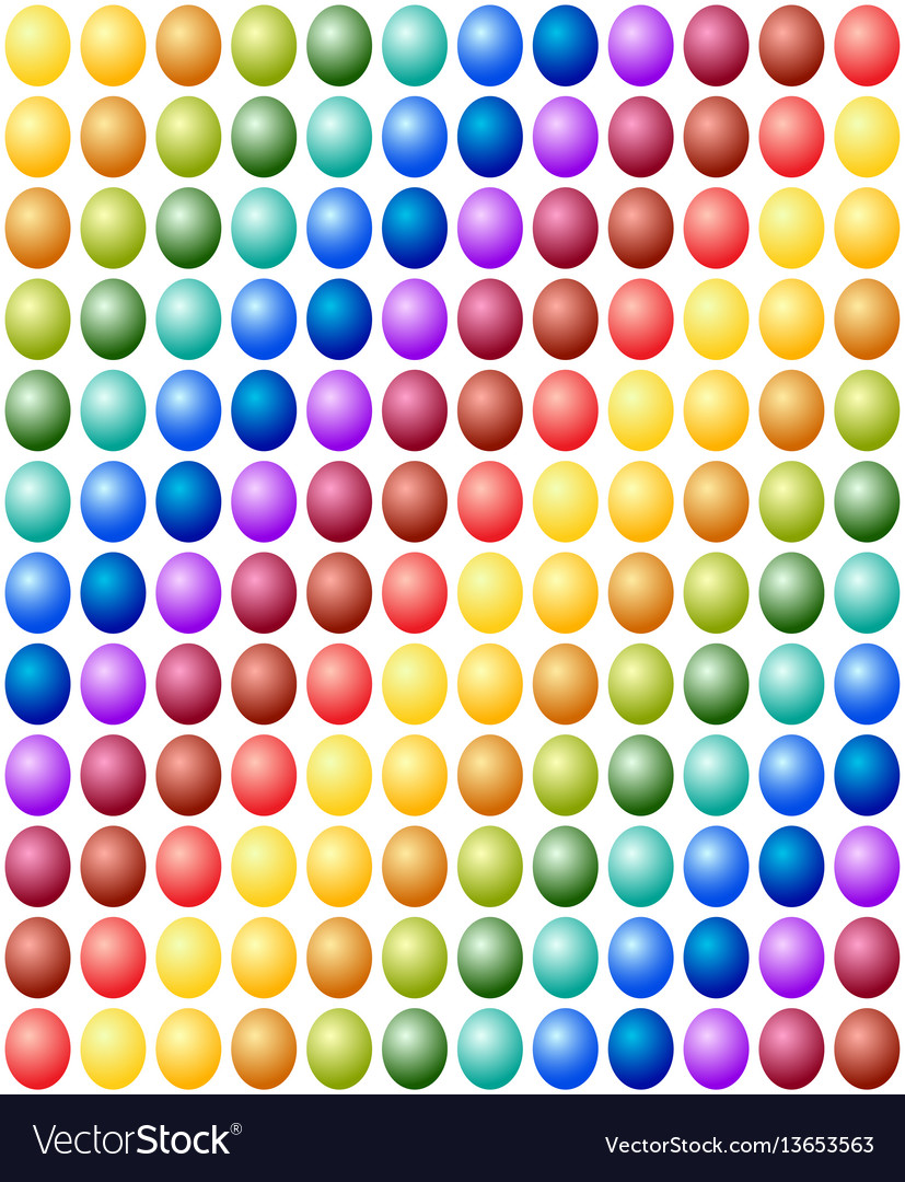 Seamless pattern easter eggs color spectrum vector