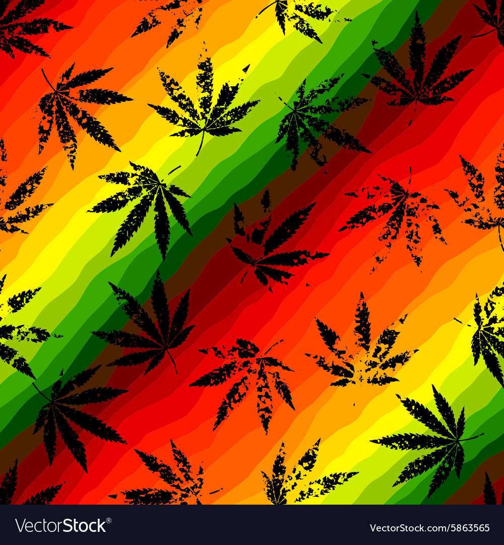 Hemp leaves vector