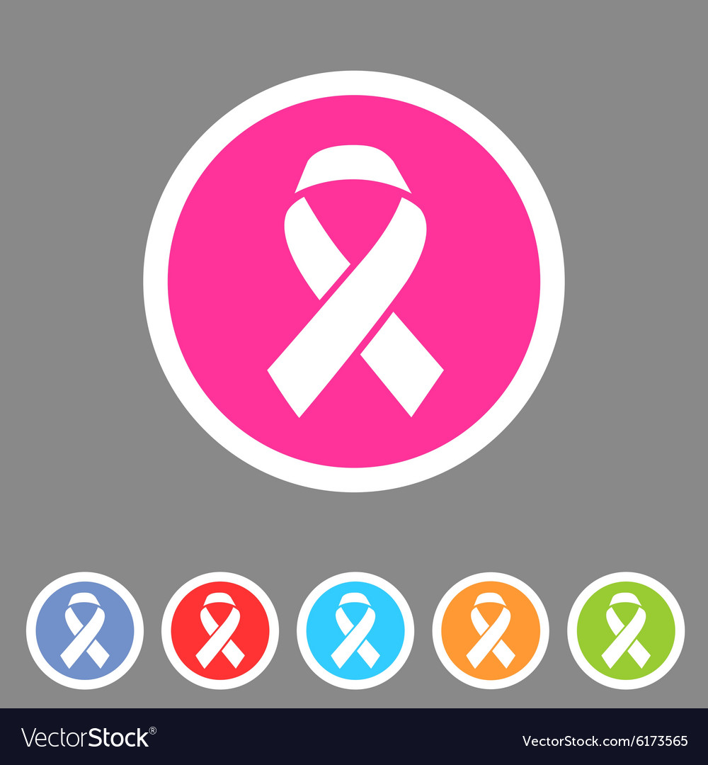 Ribbon icon flat web sign symbol logo label set vector