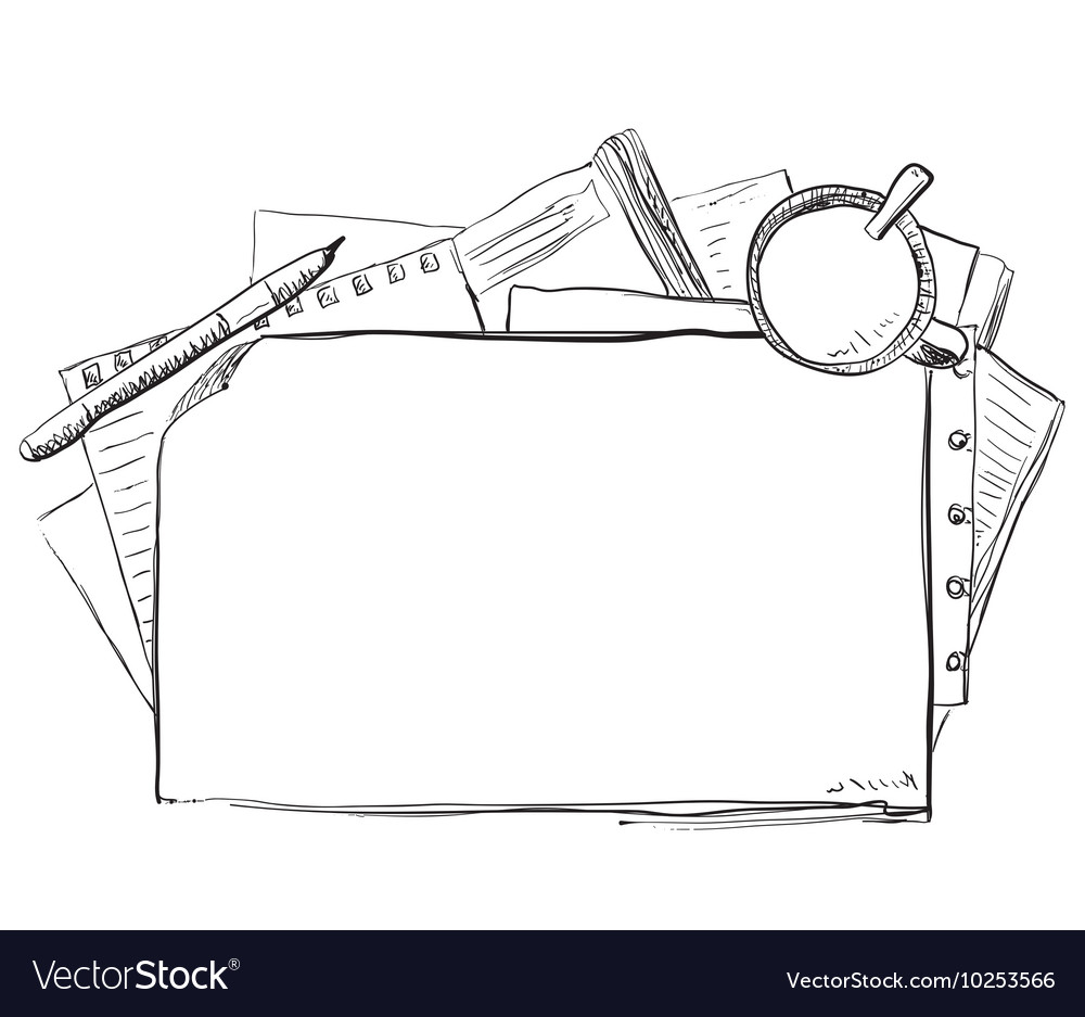 Hand drawn business frame vector