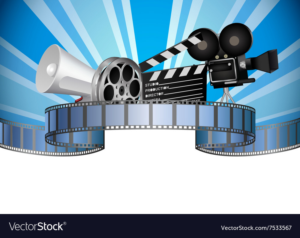 Cinema movie film and video media industry vector