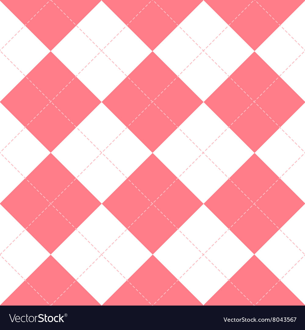 Pink white diamond background vector