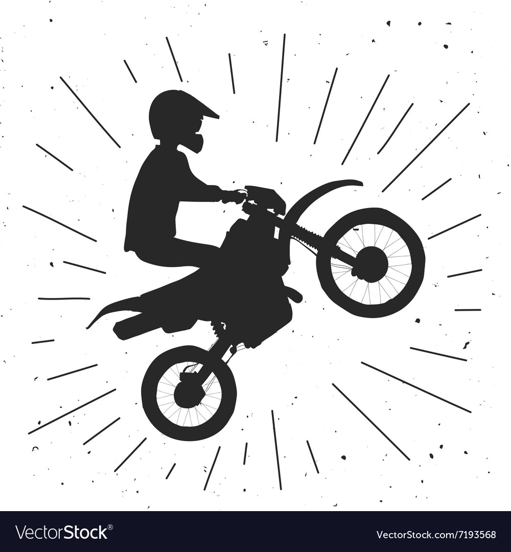 Enduro bike hand drawn vector