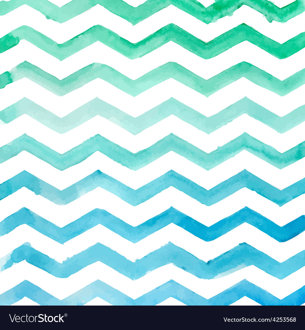 Watercolor blue striped pattern texture sketch vector