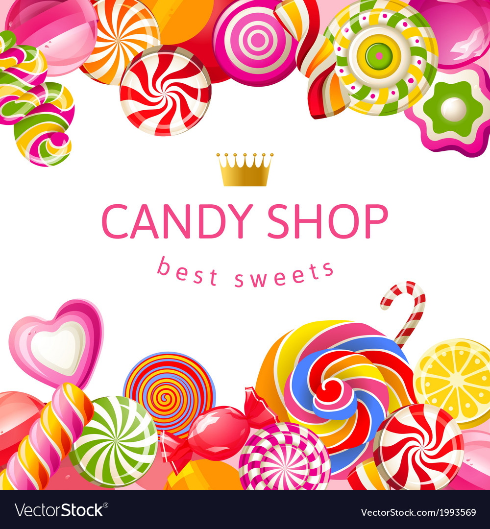 Bright background with candies vector