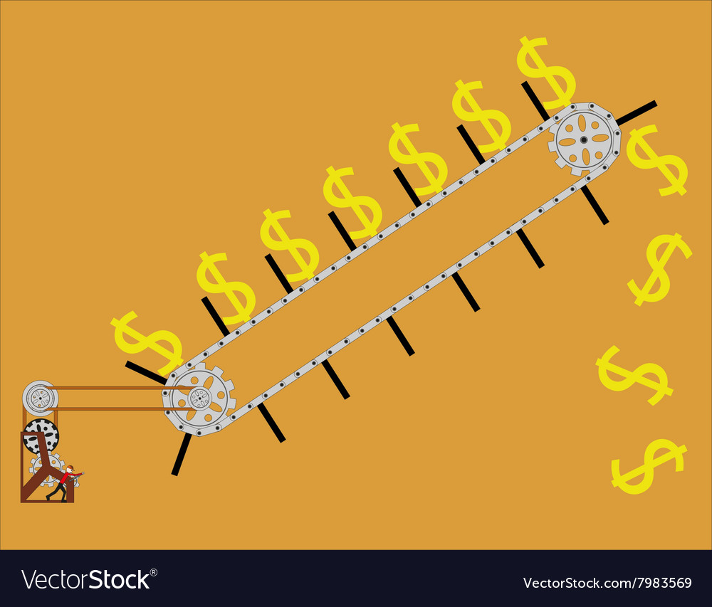 Conveyor lifts the dollar vector