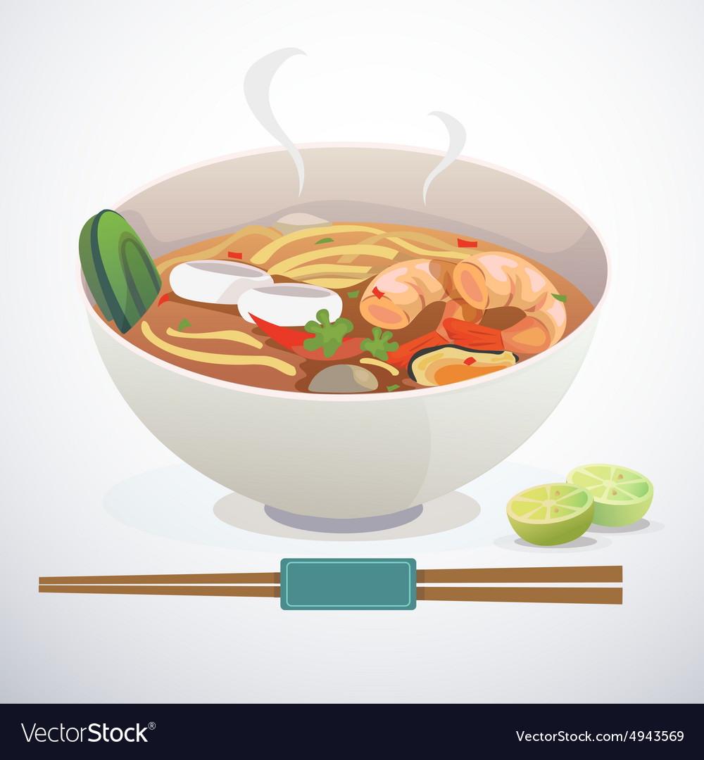 Tom yum noodle vector