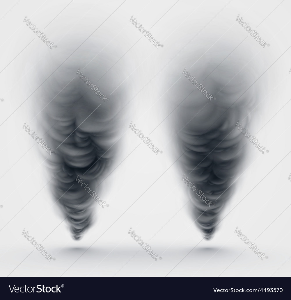Black smoke vector