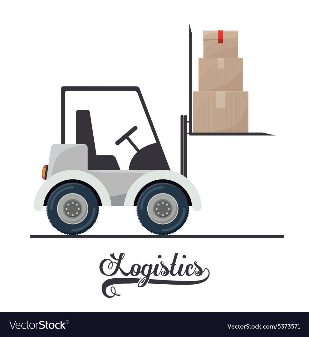 Logistics design vector