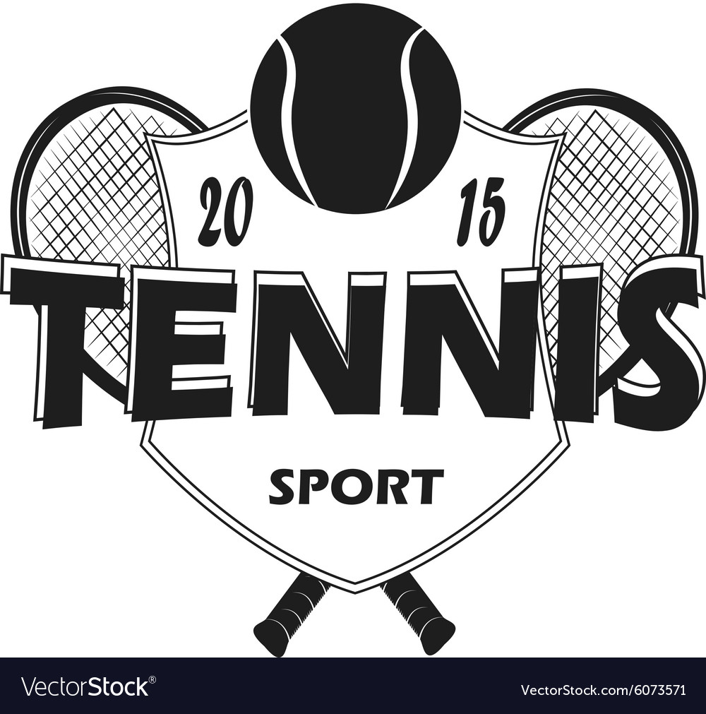 Set of tennis badge logo templates tshirt graphi vector