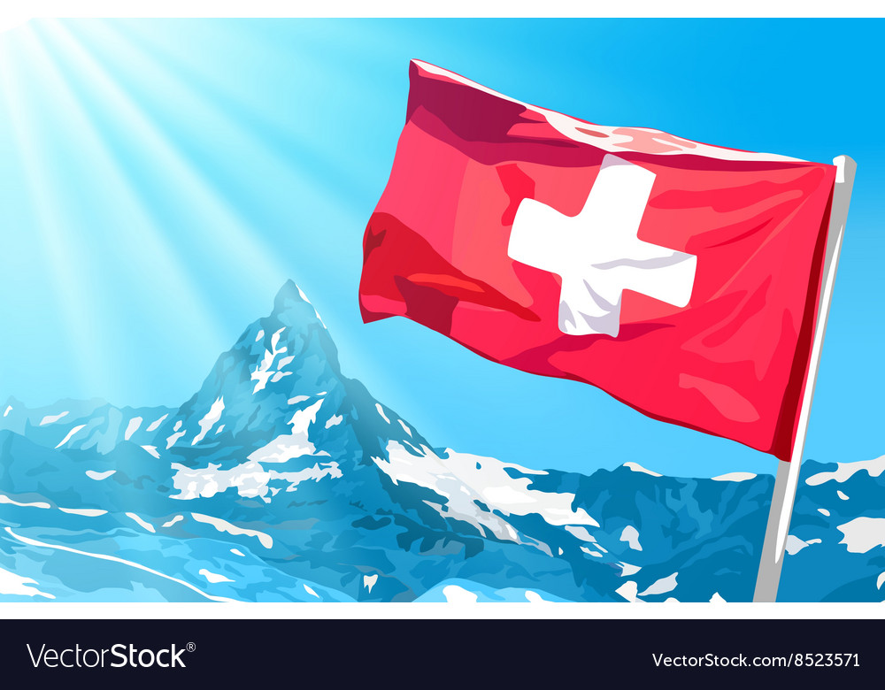 Swiss flag vector