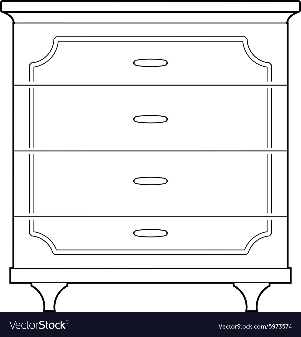 Chest of drawers vector
