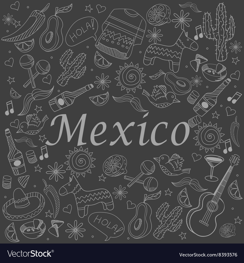 Mexico chalk vector