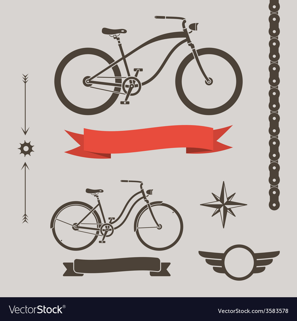 Custom bicycle vector