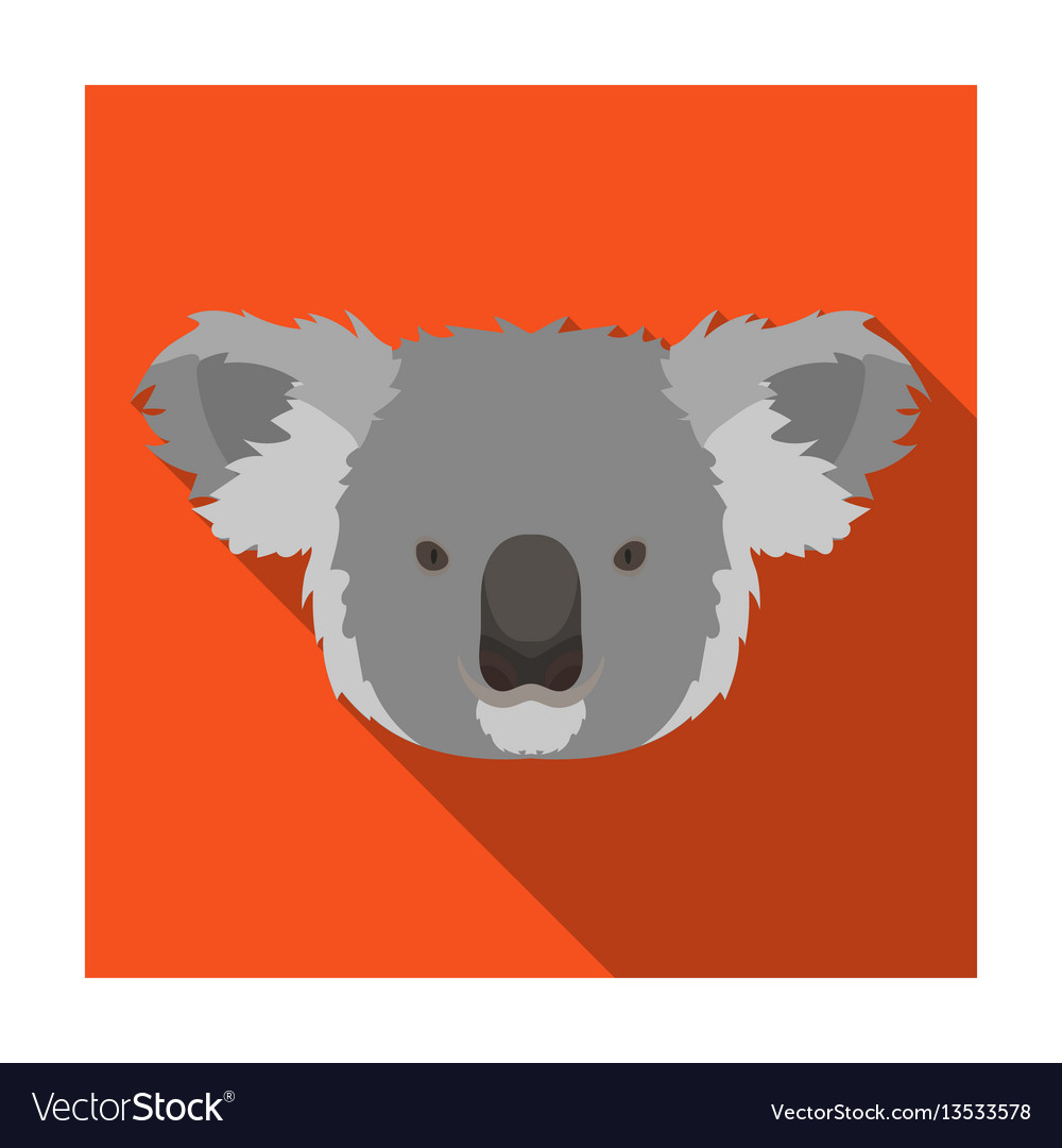 Koala icon in flat style isolated on white vector