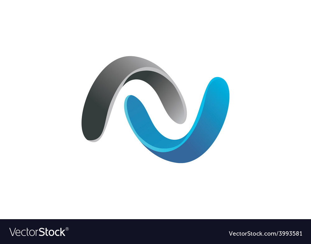 3d circle connect infinity logo vector