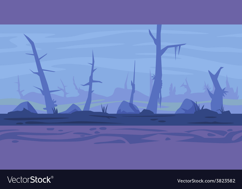 Swamp game background vector