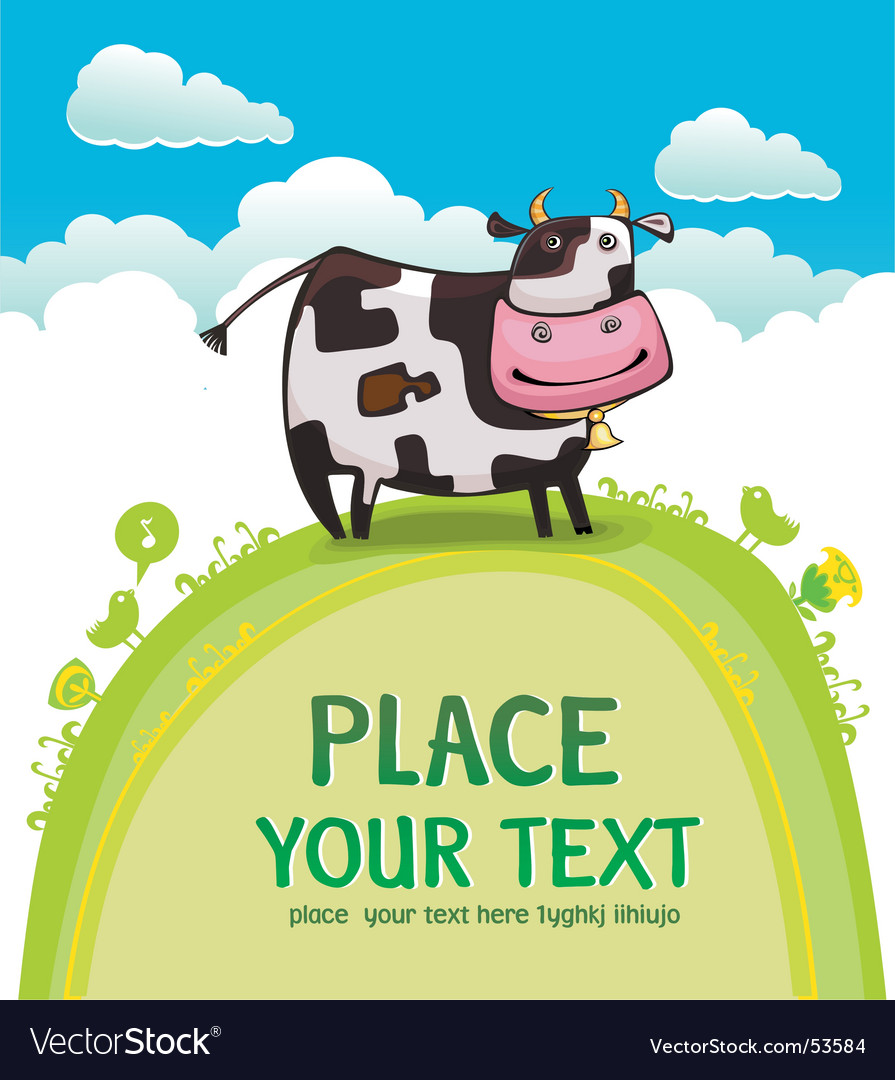 Cute friendly cow vector