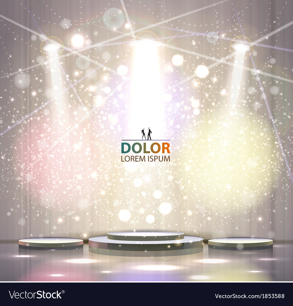 Spotlight effect vector