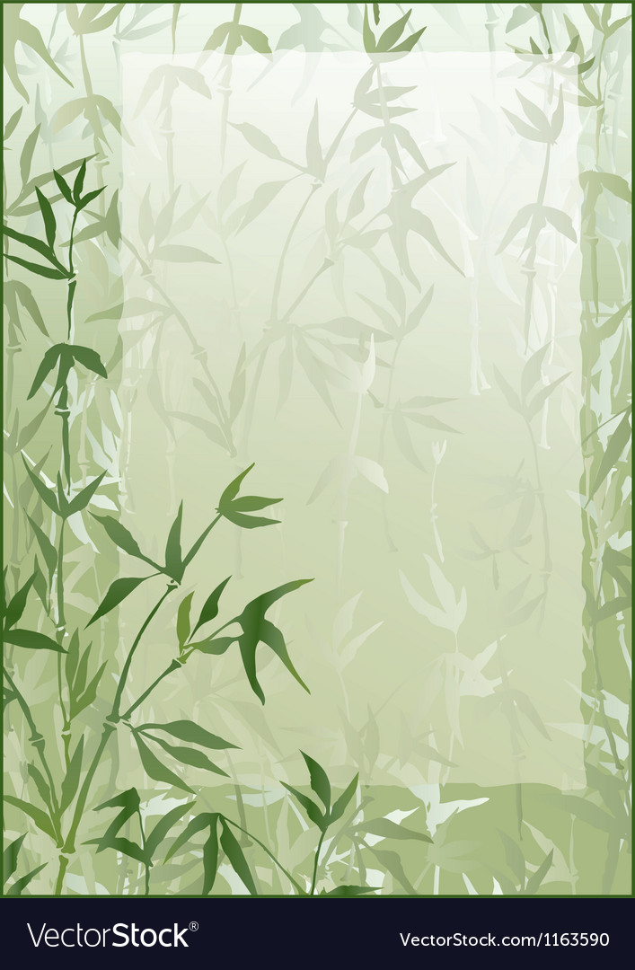 Bamboo forest frame vector