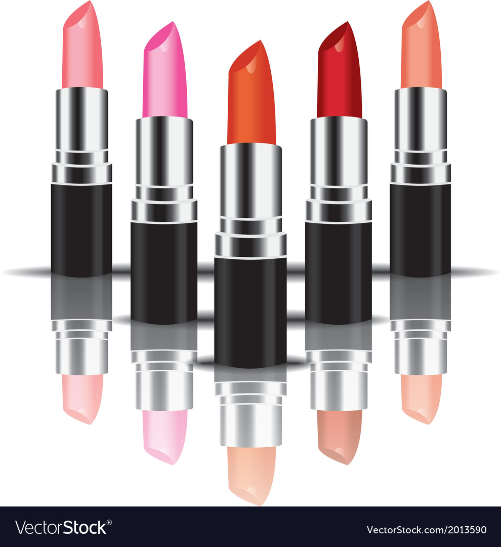 Colorful lipstick perspactive vector