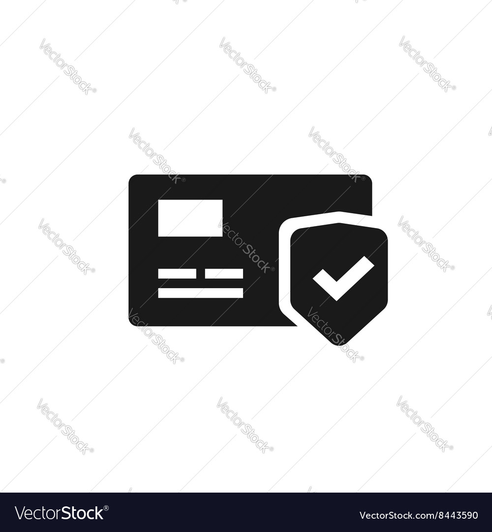 Credit card protection icon secure payment sign vector