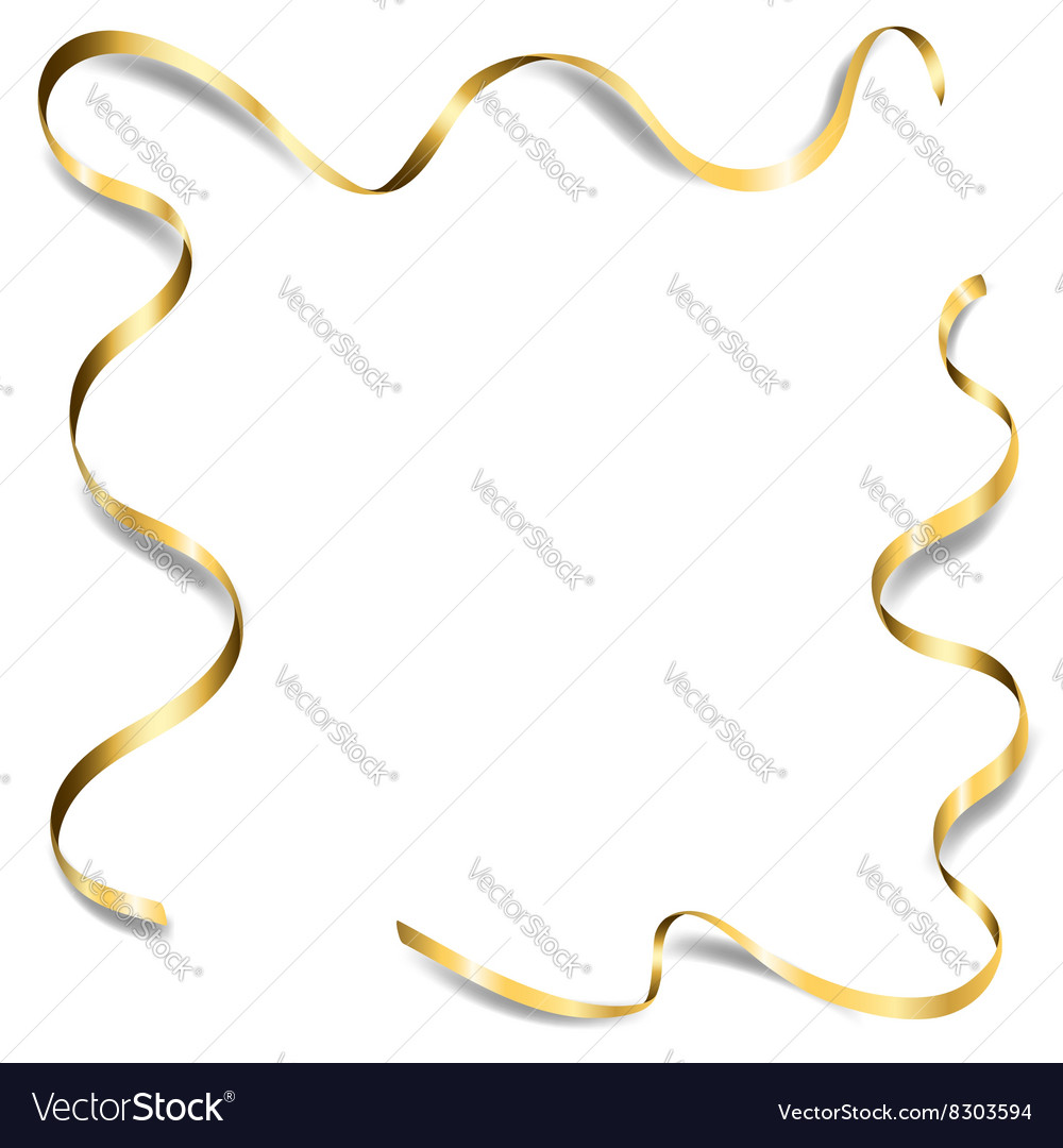 Gold ribbon shadow frame 1 vector
