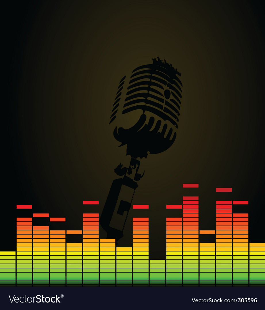 Disco microphone vector